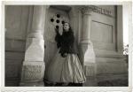 Woman at crypt