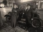 Woman and man at Model T car
